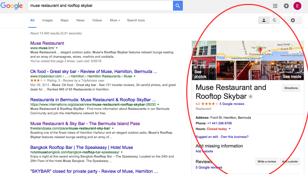 Muse_Page Results Restaurant